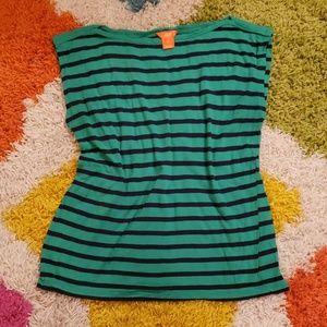 Green & Navy Striped Box Shirt